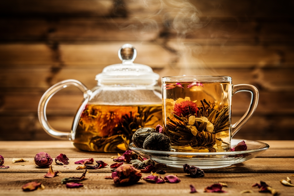 Platter of the best slimming tea for weight loss